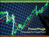 PowerPoint Template - Financial market charts on display forex candlesticks