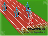 PowerPoint Template - a 3d concept of people in competition