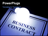 Business Contract and light bulb concept of smart in business