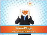 PowerPoint Template - concept image for businessman with lots of ideas making decisions