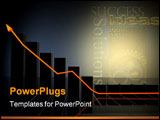PowerPoint Template - business growth chart made in 3d with special lighting effects