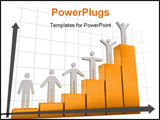 PowerPoint Template - 3d image of Diagram. On white background.