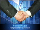 PowerPoint Template - Business handshake