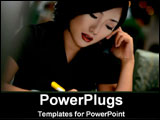 PowerPoint Template - Asian Businesswoman talking on phone