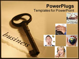 PowerPoint Template - concept image: key to business