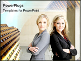 PowerPoint Template - Two professionalim woman looking confident.