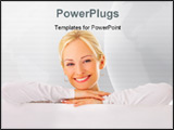 PowerPoint Template - Portrait of a beautiful woman leaning on a billboard