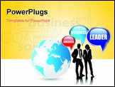 PowerPoint Template - a group of business people with speech bubbles