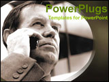 PowerPoint Template - man talking on the cell phone