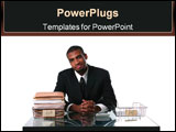 PowerPoint Template - Concept: Work done, happy businessman