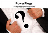 PowerPoint Template - Businessman who is hiding inside the question mark