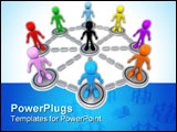 PowerPoint Template - Computer generated image - Business Network .
