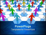 PowerPoint Template - Group Of 3d People. On white background.
