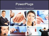 PowerPoint Template - Business people. Businessmen and business women. Team work