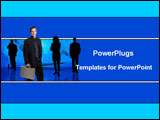 PowerPoint Template - Team of businessmen and women