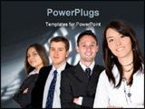 PowerPoint Template - business entrepreneurs with a corporate background - focus is on the girl