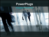 PowerPoint Template - Businesspeople going along corridor inside office building