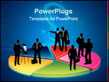 PowerPoint Template - Business people on the diagram (concept vector)