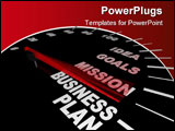 PowerPoint Template - A speedometer with needle pointing to the words Business Plan