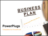PowerPoint Template - photo of a person present a business plan to the investor.