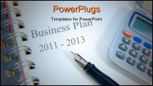 PowerPoint Template - Two year business and strategic planning towards 2013