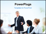 PowerPoint Template - Senior business man during a training with his colleagues