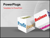 PowerPoint Template - What is a business. The concept of the words on white isolated background. 3d