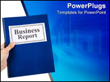 PowerPoint Template - Business report with white background close up