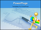 PowerPoint Template - A Concept And Presentation Character In 3D