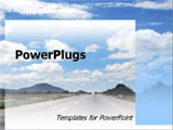 PowerPoint Template - A long stretch of highway.
