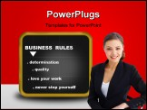 PowerPoint Template - business - blackboard with some business rules
