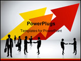 PowerPoint Template - Business team and success background with arrows