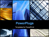 PowerPoint Template - Assemblage of business theme photos with space for your own text