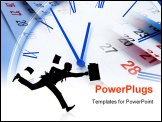 PowerPoint Template - Composite of Clock and Calendar Pages Close Up