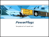PowerPoint Template -  great choice for presentations on airplanes, air lines, aircraft operations, air transport service