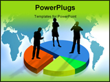 PowerPoint Template - Business team on a graphic as symbol of business in the world