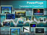 PowerPoint Template - illustration composed by abstract art and image.