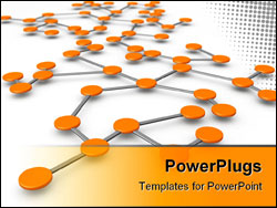 PowerPoint Template - Business network or connection concept white background 3d illustration