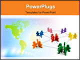 PowerPoint Template - usiness concepts illustrated with colorful wooden people - networking, organizational groups, or wo