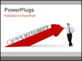 PowerPoint Template - 3d rendered illustration of a red arrow and the word opportunity