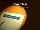 PowerPoint Template - image of a business plan for a small business under the spot light