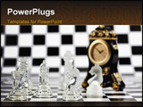 PowerPoint Template - Concept of business strategy, chess board
