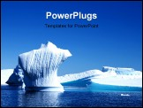 PowerPoint Template - An Bust shaped Iceberg in Pleneau bay Antarctica