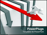 PowerPoint Template - Only red arrow is the winner you can trust it