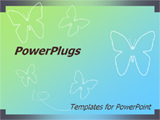 PowerPoint Template - his template will fit presentations on nature, butterflies, insects, entomology, and butterfly effe