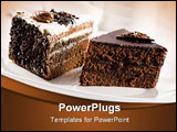 PowerPoint Template - Beautiful tasty chocolate cakes close up shoot