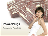 PowerPoint Template - Chocolate Sweets with beautiful girl