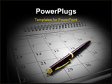 PowerPoint Template - Close Up of Ballpoint Pen on Calendar