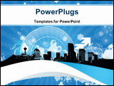 PowerPoint Template - The city of Calgary for winter conceptual art this was created in Photoshop.
