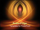 PowerPoint Template - A beautiful fractal abstract design. Looks like bright candlelight.